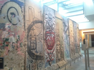 Photo of the West Berlin Wall at the Newseum on Thursday, March 28, 2013.